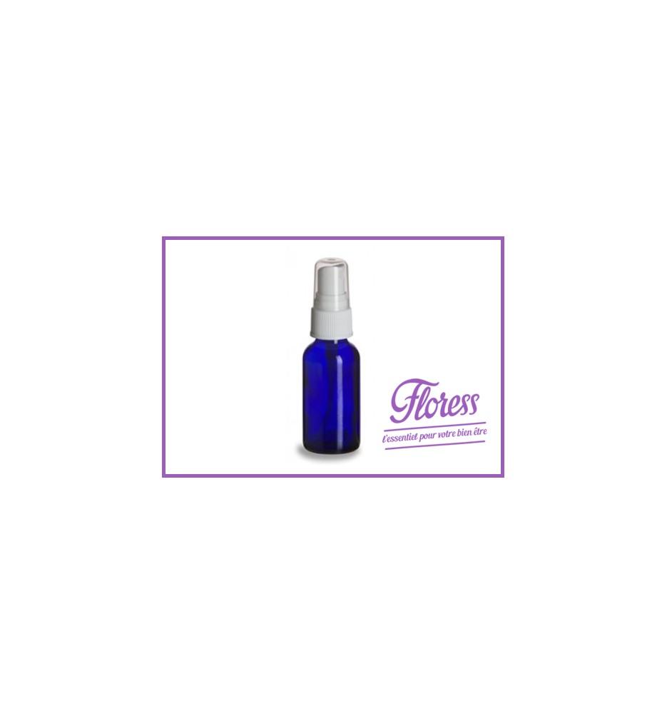 Flacon 30ml - verre bleu avec nébuliseur