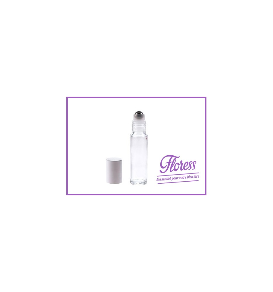 Flacon 10ml - verre blanc Roll-on