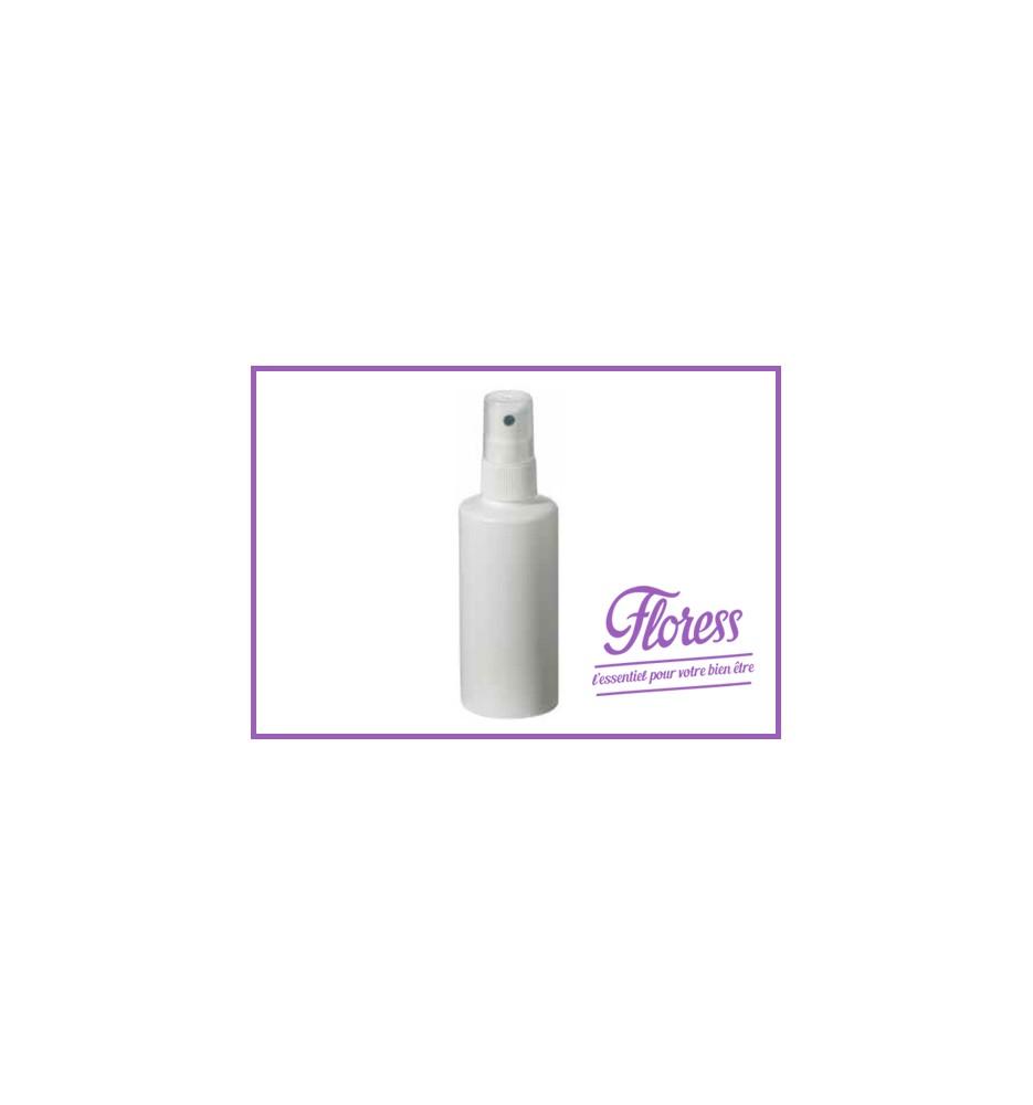 Flacon 100ml - polyéthylène blanc avec nébuliseur